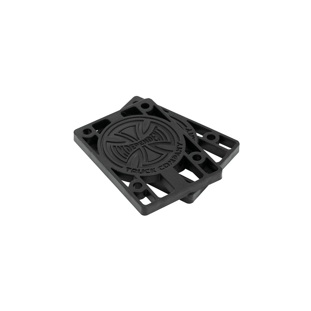 Black Plastic Riser Pads with Indy Logo