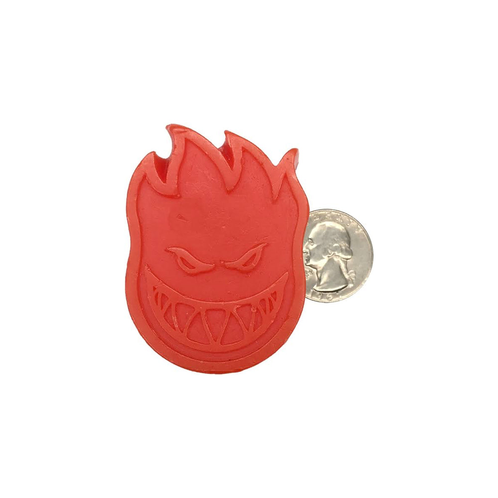 Flame head shaped skate wax  in red