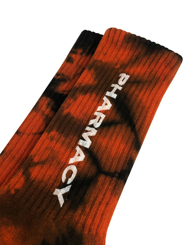 Pharmacy Tie Dye Socks (Red/Black)