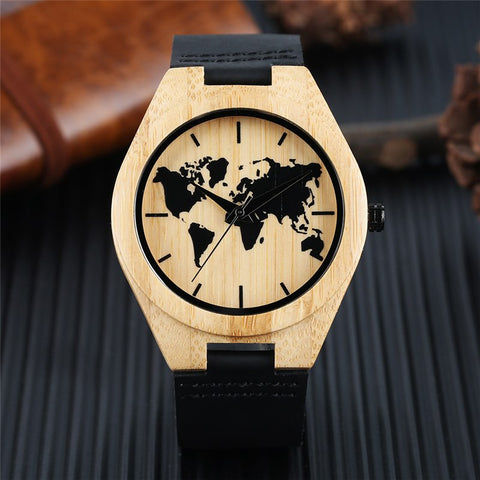 Bamboo World Map Watch