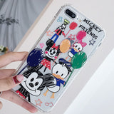 Mickey Graffiti Transparent iPhone Case - New Arrival
