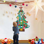 Hanging Christmas Tree with Glitter Ornaments