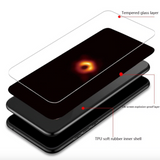 Black Hole Tempered Glass Case for iPhone & Samsung