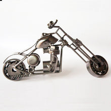 Load image into Gallery viewer, 1pc 17cm Metal Craft Vintage Motor Van Home Decor Shabby Chic Motorcycle Hand-made Harley Motor Statue Model Traffic Collection