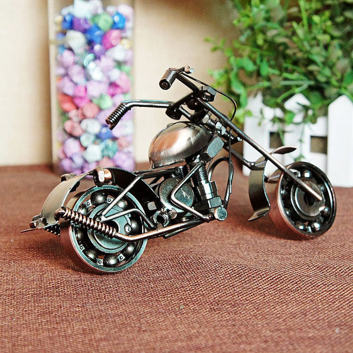 20x8x10cm Antique Harley Motorcycle Model Handmade Metal Craft For Birthday Souvenir Gift Home Decor Shabby Chic Motor Van