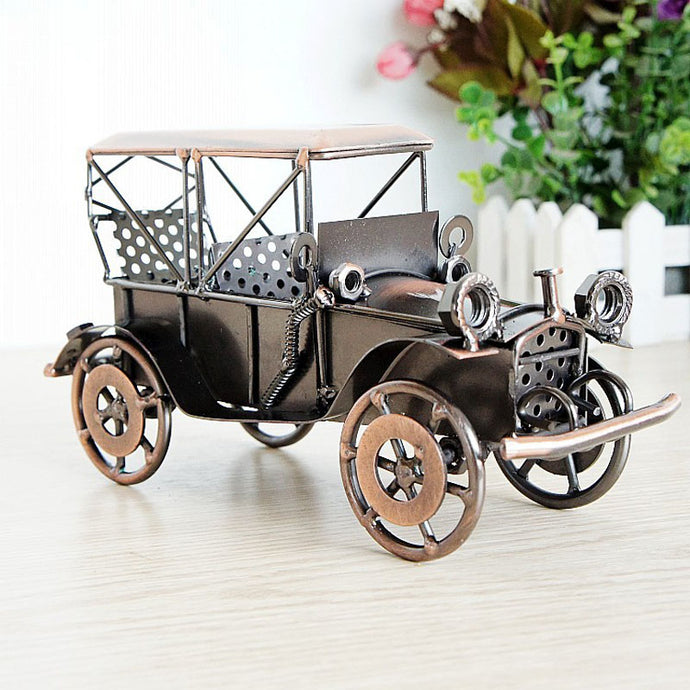 Handcraft 20x8.5x10.5cm Classical Car Ford 1924 Alloy Metal Craft  as Party Souvenir Home Decoration Ancient Collection