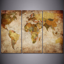 Load image into Gallery viewer, HD Printed 3 Pieces World Map