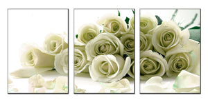HD Printed 3 Pieces White Roses (Unframed)