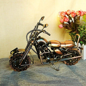 "Handcraft Big 27x8x20cm 10.6X3X8"" Creative Antique Harley Motorcycle Iron Metal Craft  Party Souvenir Home Decoration Collection"