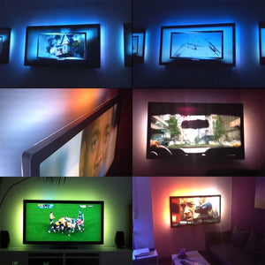 LED Light Strip with Remote DC 5V USB RGB 50CM 1M 2M 3M 4M 5M