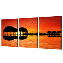 Load image into Gallery viewer, HD Printedd 3 Pieces Guitar Tree Lake Sunset