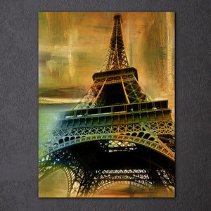 HD Printed 1 Piece Canvas Art Eiffel Tower Vintage Painting
