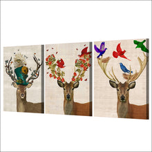 Load image into Gallery viewer, HD Printed 3 Pieces Deer Elk Color Birds