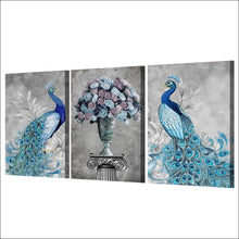 Load image into Gallery viewer, HD Printed 3 Pieces Peacock Couple