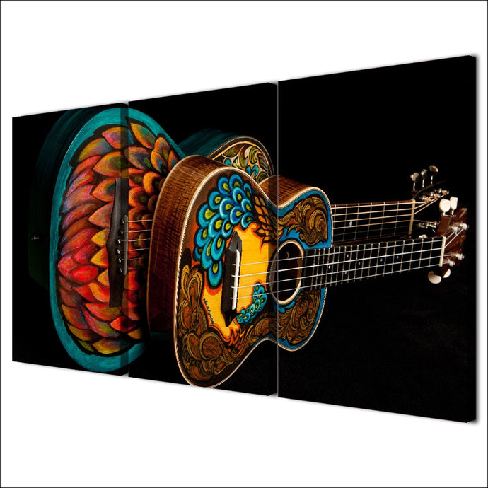 HD Printed 3 Pieces Music Instrument Vintage Guitar