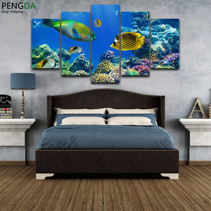 HD Printed 5 Pieces Marine Tropical Fishs
