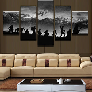 HD Printed 5 Pieces Lord Of The Rings