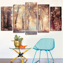 Load image into Gallery viewer, HD Printed 5 Panels Autumn Forest