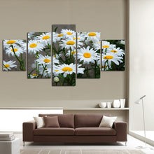 Load image into Gallery viewer, HD Printed 5 Panels White Daisy Sunflowers