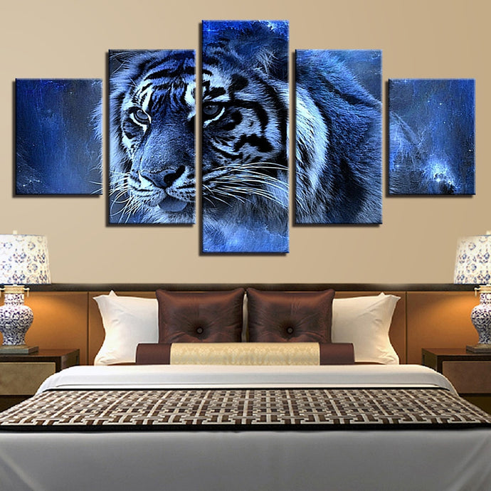 HD Printed 5 Pieces Tiger