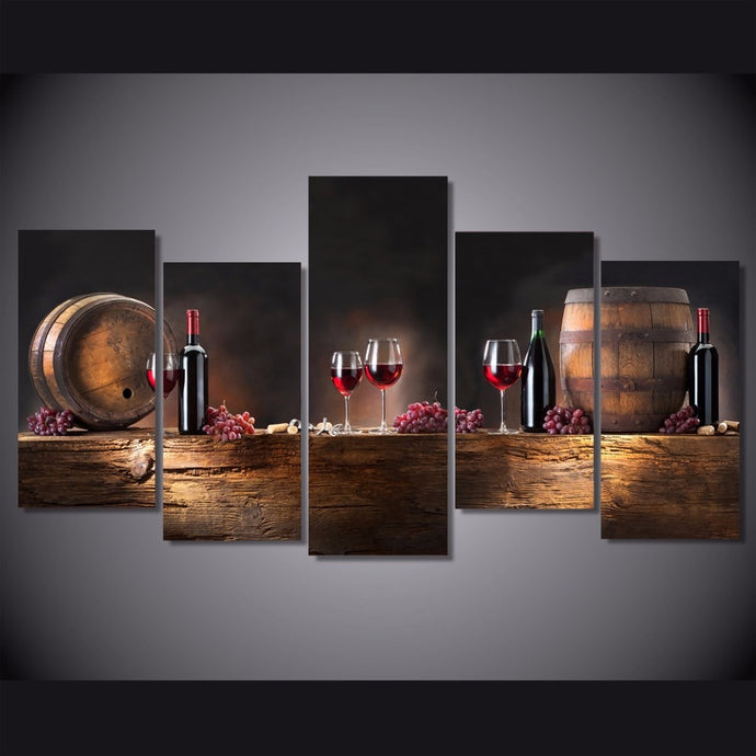 HD Printed 5 Piece Red Wine