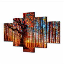 Load image into Gallery viewer, HD Printed 5 Pieces Forest Sky Trees Autumn Foliage Landscape