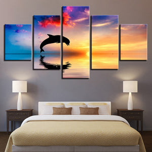 HD Printed 5 Pieces Dolphin