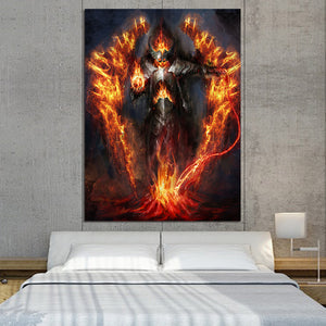 HD Printed 1 Piece Fantastic Warrior Burning Armor