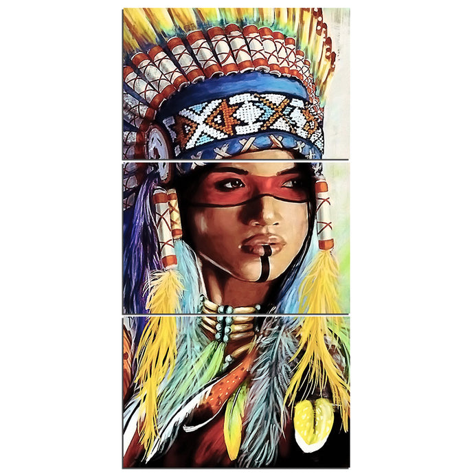 HD Printed 3 Pieces Native American Indian