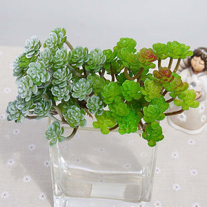 34pcs head/1 bundle artificial flowers succulent plants Potted christmas windowsill decora for home wedding household products