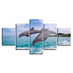 HD Printed Jumping Dolphins