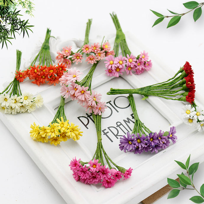 10 pcs Daisy Silk Cheap Artificial Flower Bouquet
