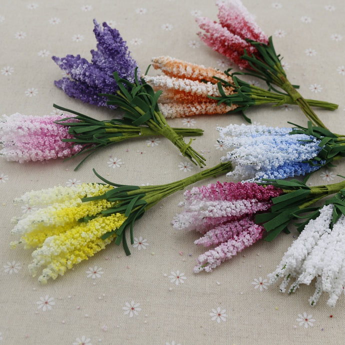 10pcs lavender foam Artificial flowers