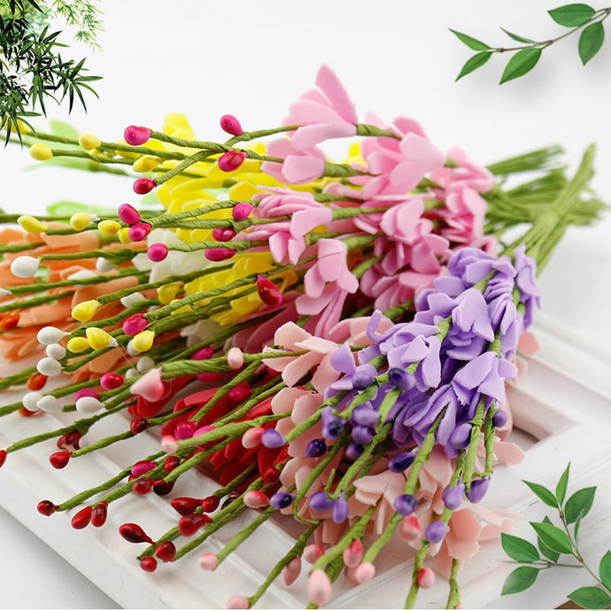 10 pcs Artificial Flowers Wedding Gift box Decoration DIY Wreath Craft Hair accessories, headwear materials, garland accessories