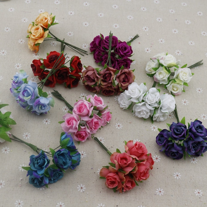 6pcs rose artificial flowers
