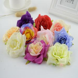 100pcs Artificial flowers for home wedding car christmas decoration Slippers accessories Silk Curling roses Simulation flower