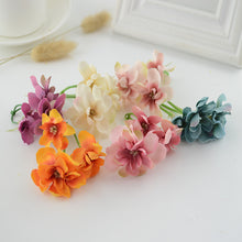 Load image into Gallery viewer, 12pcs Silk Hydrangea bridal accessories clearance artificial flowers for home wedding decor diy gifts Threshold ornamentation