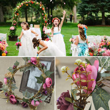 Load image into Gallery viewer, artificial flowers festival Party decor Fashion Bohemian Style wreaths Bridesmaids Crown Wedding Garland Headband Beach Holiday