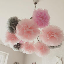 Load image into Gallery viewer, 1PC 10 15 25CM Tissue Paper Pom Poms Wedding Decoration Flower Kissing Pompom Balls Baby Shower Birthday Party Home Decorations