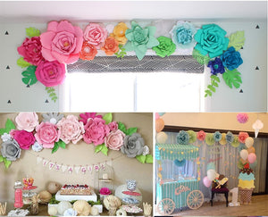 5 Colors DIY Paper Flower Wall Decoration Set Party Supplies Backdrop for Wedding Custom Paper Flower Birthday Party Kids Toy