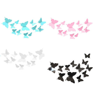 4set 48pcs 3D Butterfly DIY Wall Sticker Removable Wall Decals For Art  Home Wall Window Refrigerator Toilet Decoration