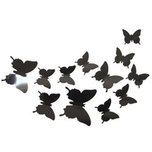 Load image into Gallery viewer, 4set 48pcs 3D Butterfly DIY Wall Sticker Removable Wall Decals For Art  Home Wall Window Refrigerator Toilet Decoration