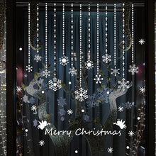 Load image into Gallery viewer, 2Sets Christmas Window Decoration For Home Merry Christmas White Snowflake Wall