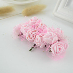 12pcs Mini Foam Rose Artificial Flowers