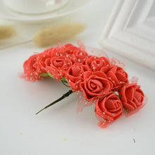 Load image into Gallery viewer, 12pcs Mini Foam Rose Artificial Flowers