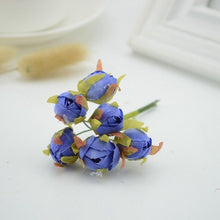 Load image into Gallery viewer, 6pcs Small silk Tea Rose Artificial flowers