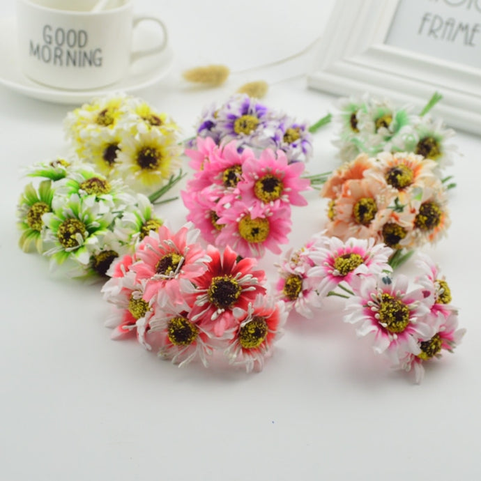 6pcs Silk Daisy Artificial Flower Bouquet