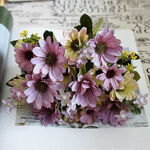 Load image into Gallery viewer, 9fork/bunch Silk sunflower home wedding decoration accessories ornamental flowerpot stamens Flower diy vases artificial flowers