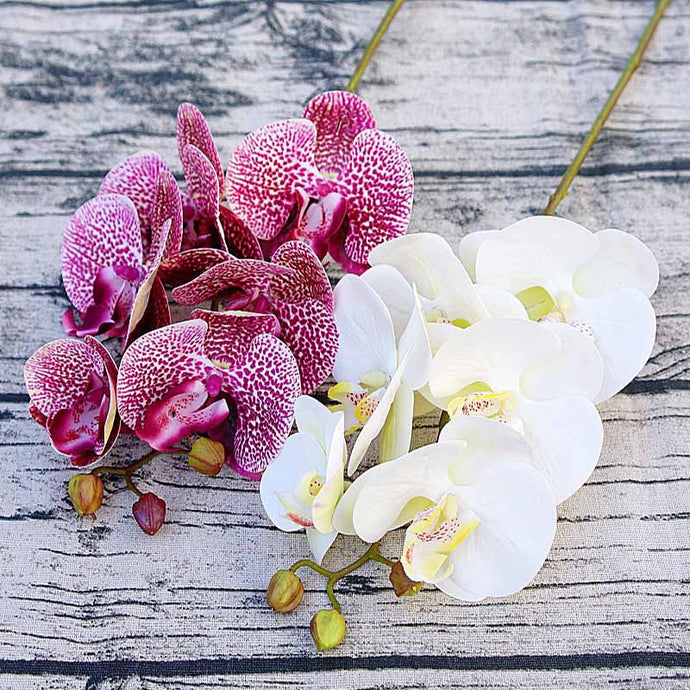 Simulation 3D small Butterfly orchid 6 heads/bundle Fake flower home drapery wall wedding decoration diy Artificial Phalaenopsis