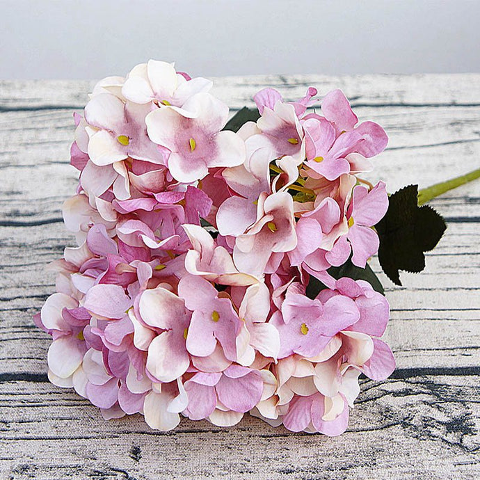 Silk hydrangea diy gifts wedding christmas decor for home fake floristics plastic household products artificial flowers Rattan